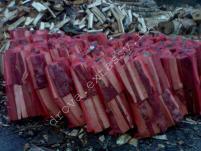 Дрова уложенные колотые в сетки